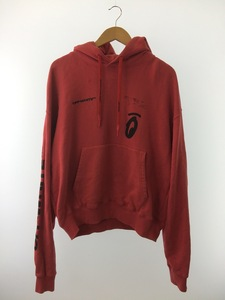 OFF-WHITE◆OMBB037E19D25010/19AW/バックアロースプリット/パーカー/コットン/RED