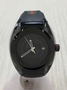GUCCI◆GUCCI/クォーツ腕時計/アナログ/ラバー/YA137301