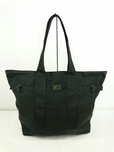 MIS◆MULTI TOTE BAG/トートバッグ/ナイロン/BLK