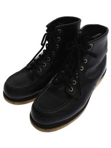 RED WING◆レースアップブーツ・6インチクラシックモックトゥ/US9/BLK