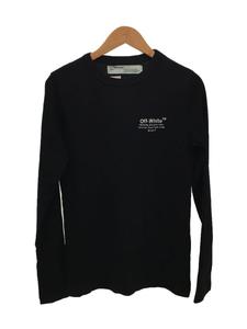 OFF-WHITE◆オフホワイト/長袖Tシャツ/XS/コットン/ブラック/黒/2013