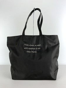UNDERCOVER◆20SS/Nylon Tote Bag Dylan Thomas/トートバッグ/ナイロン/GRY