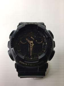 CASIO◆G-SHOCK/クォーツ腕時計/デジアナ/ラバー/BLK/カモフラ/GA-100CF-1A9JF