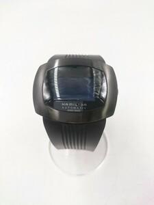 HAMILTON◆H525150/自動巻腕時計/デジタル/ステンレス/BLK/BLK/パルソマティックデジタル