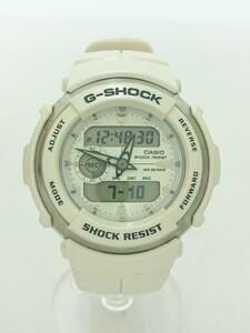 CASIO◆G-SHOCK/クォーツ腕時計/デジアナ/ラバー/WHT/WHT/g300-lv/ホワイト/シロ