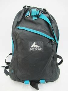 旧タグ GREGORY グレゴリー 銀文字タグ ナイロン ナイロン デイパック リュック バックパック バッグ BAG 鞄 かばん ブラック ブルー 黒 青