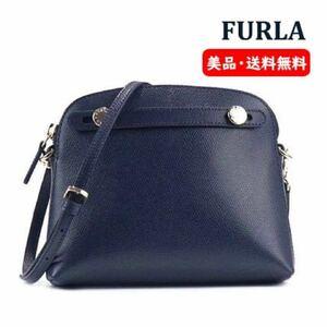 新品同様 FURLA フルラ パイパーミニショルダーバック ハンドバッグ