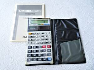 CASIO カシオ fx-3600Pv プログラム 関数電卓 絶版 昭和レトロ ヴィンテージ 説明書付