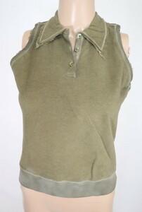 *90%OFF新品 シェルビーノ ストリート イタリア製 ノースリーブ ポロシャツ 定価38,500円(税込)サイズ40(M~L) オリーブ LCT746