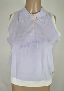 *90%OFF新品 シェルビーノ ストリート イタリア製 ノースリーブ ポロシャツ 定価38,500円(税込)サイズ40(M~L) ライトパープルLCT745