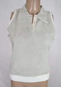 *90%OFF新品 シェルビーノ ストリート イタリア製 ノースリーブ ポロシャツ 定価38,500円(税込)サイズ42(L~XL) ライトグレーLCT749