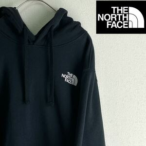 THE NORTH FACE ザノースフェイス プリント プルオーバーパーカー フーディー ブラック USA Sサイズ 良品