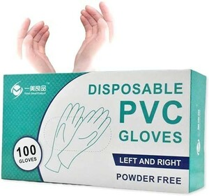 新品◎使い捨て手袋◆ビニール手袋◆PVCグローブ◆ホワイト◆粉なし◆100枚入り◆S・M・L・XLサイズ