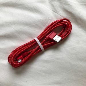 iPhone 充電ケーブル L字型 2m レッド 充電器 Lightningケーブル ライトニングケーブル アイフォン アイホン