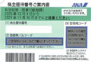 【番号通知・クレカOK・1時間以内通知確約(6~22時まで)】ANA 全日空 全日本空輸 株主優待券 1枚 (延長後有効期限2022年5月31日)②