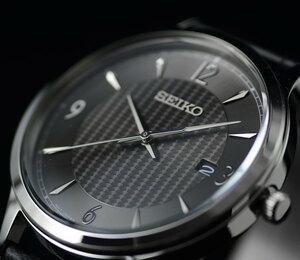 1円 逆輸入セイコー ガンメタリック 視認性高くシンプルで飽き来ない王道デザイン 100m防水 腕時計 SEIKO 未使用 メンズ 日本未発売