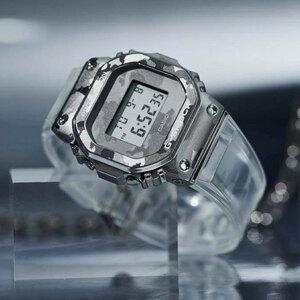1円 G-SHOCK 迷彩&透明クリアスケルトン 金属ベゼル 逆輸入 G-SHOCK 20気圧防水 CASIO メンズ 腕時計 Gショック 構造耐衝撃構