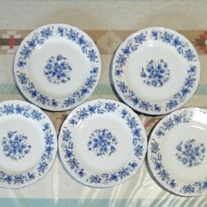 皿(中) 5枚組 花柄 プレート皿 食器