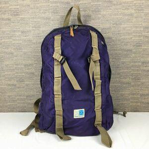 Karrimor/カリマー リュックサック/デイバッグ 紫 ロゴ 管NO.B22-15