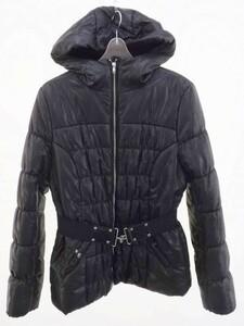 ■ H&M エイチアンドエム ベルト付き ダウンジャケット 40 ブラック * 1000000127287