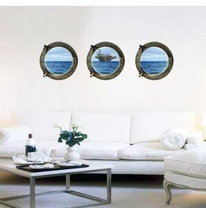 (NO.338)DIY剥がせる壁飾りウォールステッカー綺麗な仕上がり 航空母艦