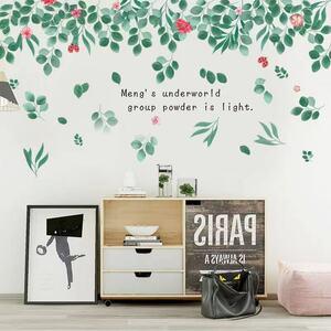 (NO.307)DIY剥がせる壁飾りウォールステッカー綺麗な仕上がり 緑の葉