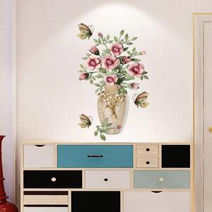 (NO.311)DIY剥がせる壁飾りウォールステッカー綺麗な仕上がり 花瓶