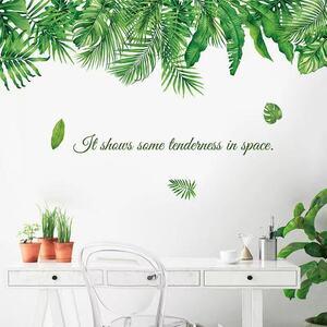 (NO.227)DIY剥がせる壁飾りウォールステッカー綺麗な仕上がり 北欧風緑葉