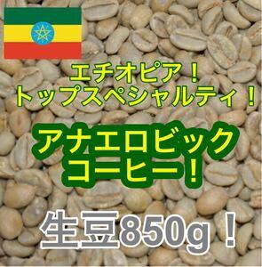 トップスペシャルティコーヒー!エチオピア アナエロビックコーヒー!生豆850g!