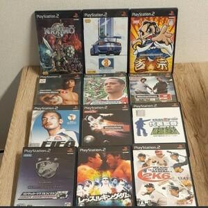 PSソフト43本まとめ売り(ガンダムSEED、北斗の拳、ウイニングイレブン、鉄拳4入り) PS2ソフト ゲームソフト PS2