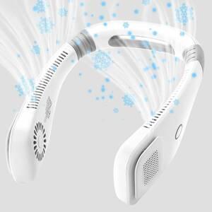 首掛け扇風機 羽根なし ネッククーラー 首かけ ネックファン 携帯扇風機 USB充電式 3段階風量調節 長時間連続使用可 静音 軽量 小型 熱中症