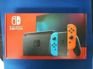 [美品] Nintendo Switch Joy-Con(L) ネオンブルー/(R) ネオンレッド(HADSKABAA)(バッテリー拡張モデル) 動作確認済みの未使用品