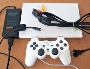 PS2 プレステ2 薄型 SCPH-75000 本体 ホワイト ACアダプター SCPH-70100 PlayStation2 送料無料