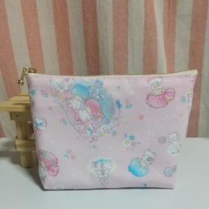 ハンドメイド【キキララちゃんのポーチ】ピンク/ドリーミー☆