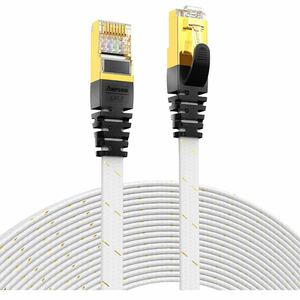 CAT7準拠STP 高速LANケーブル(1m) AMPCOM 10Gbps/600MHz RJ45 フラットインターネットケーブル