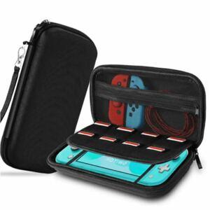 Liteケース ラウンドファスナー 大容量 ニンテンドー スイッチ LITE 収納バッグ 持ち運び便利 高品質ハードポーチ