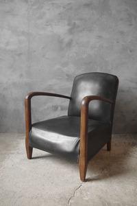 アンティーク フランス レザーソファ 椅子 チェア 店舗什器