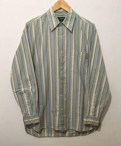 90's J.CREW ジェイクルー ストライプ柄 長袖シャツ マチ付き ヴィンテージ サイズ S