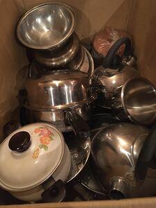 鍋 ヤカン 蒸器 ホーロー鍋 大量セット