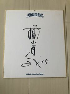 元プロ野球選手 北海道日本ハムファイターズ 横山道哉 直筆サイン色紙