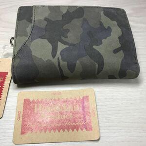 迷彩カモフラージュ柄 折り畳み財布