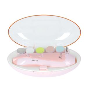 ☆ ピンク zj02 ベビー用電動ネイルケアキット 赤ちゃん 爪やすり 通販 電動 つめやすり ベビー用 子供 大人 ネイルケアセット LEDライト