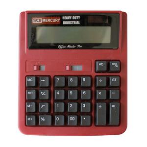 ☆ レッド マーキュリー ソーラーカリキュレーター 電卓 12桁 通販 マーキュリー 雑貨 おしゃれ かわいい 大きい 計算機 大型 卓上 事務