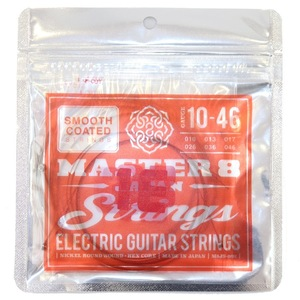 184202 MASTER 8 JAPAN Strings Smooth Coated Strings 10-46 エレキギター弦