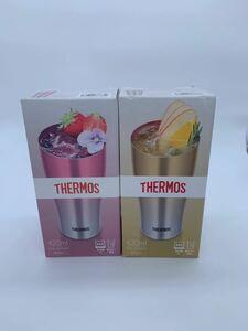 サーモス 真空断熱タンブラー ピンク&ゴールド 新品2個