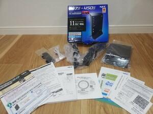 NEC Wi-Fi 無線 LAN ルータ Aterm WG1400HP 11ac対応 【中古】