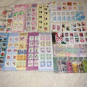 切手シール 9300円分 くまもん おもてなしの花 伝統 文化 旅行シリーズ