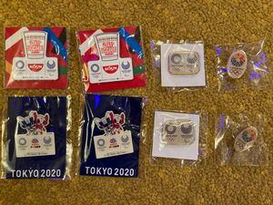 【非売品】8個セット 東京オリンピック・パラリンピック ピンバッジ TOKYO2020 東京2020 カップヌードル アース製薬
