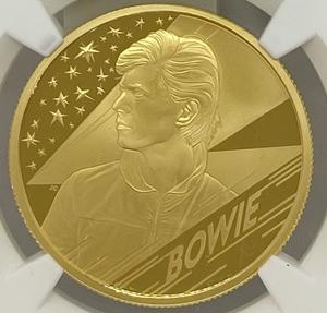 【 最高鑑定 稀少 】 2020 イギリス デヴィッド・ボウイ 英国 100ポンド 金貨 NGC PF70UC Ultra Cameo モダン ケース付 ゴールド コイン