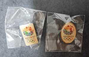 東京オリンピック ピンバッジ ピンバッチ 2020 楕円 2個セット ピンズ 未使用
